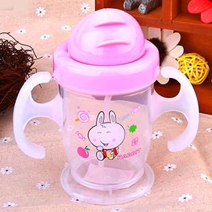 赞诺 婴儿防漏吸管杯带手柄饮水杯幼儿童水瓶宝宝喝水